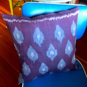 Anthropologie Purple Ikat Pillow